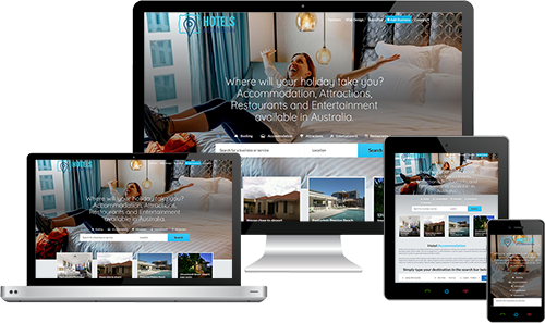 Hotel Accommodation displayed beautifully on multiple devices