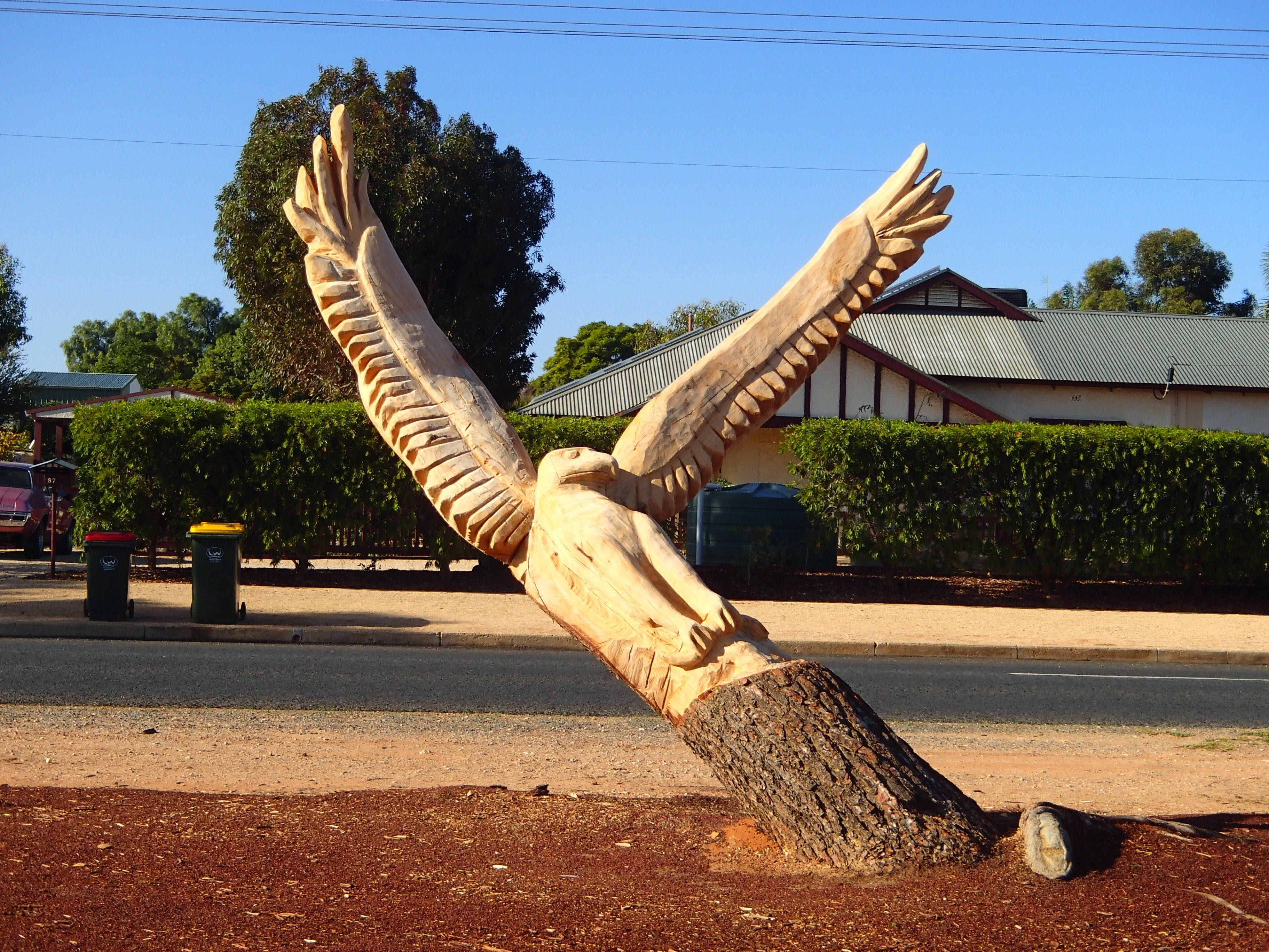 Loxton Tree sculptures - Hotel Accommodation