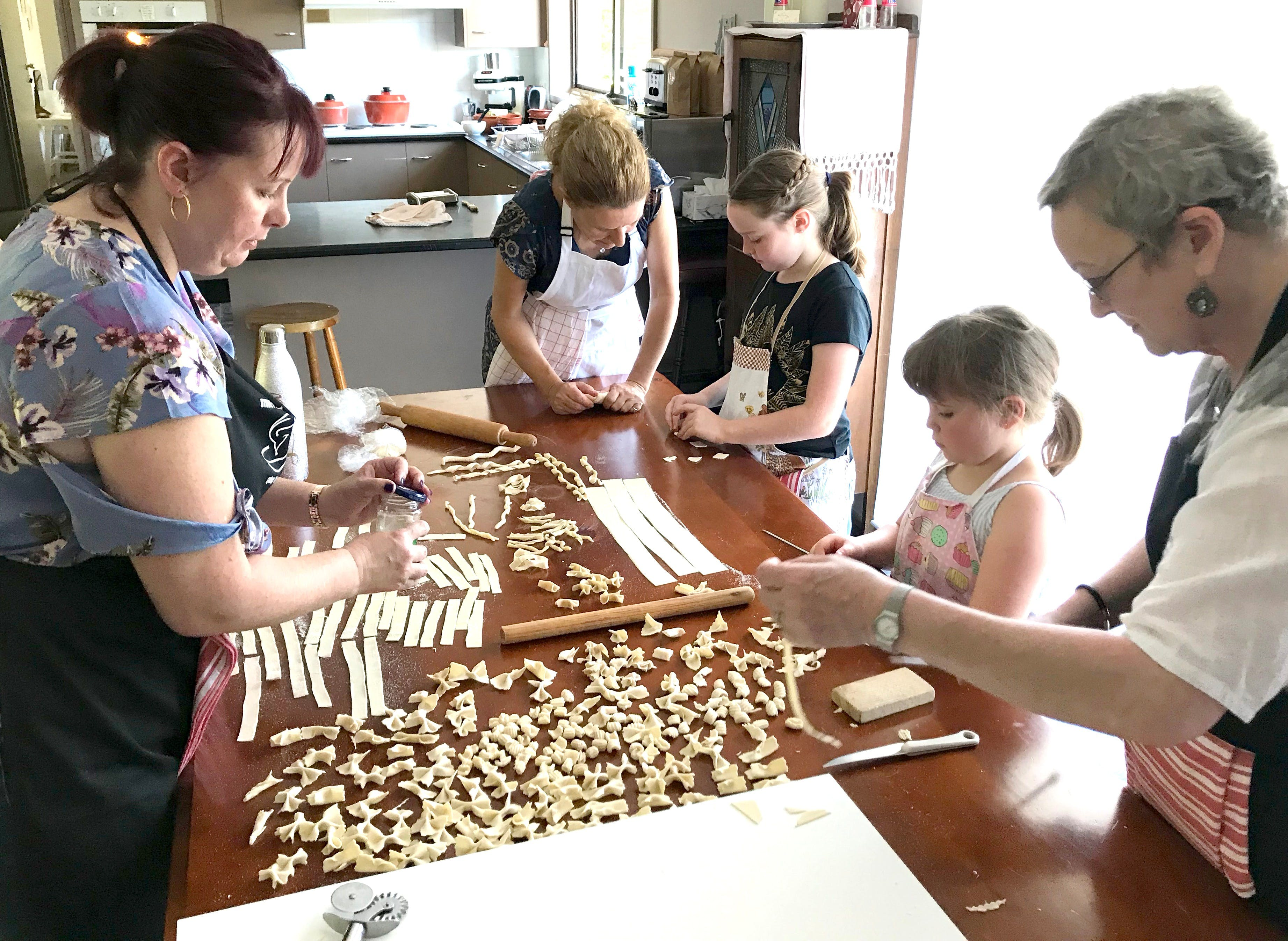 Kids Pasta Making Class - hands on fun at your house - Hotel Accommodation