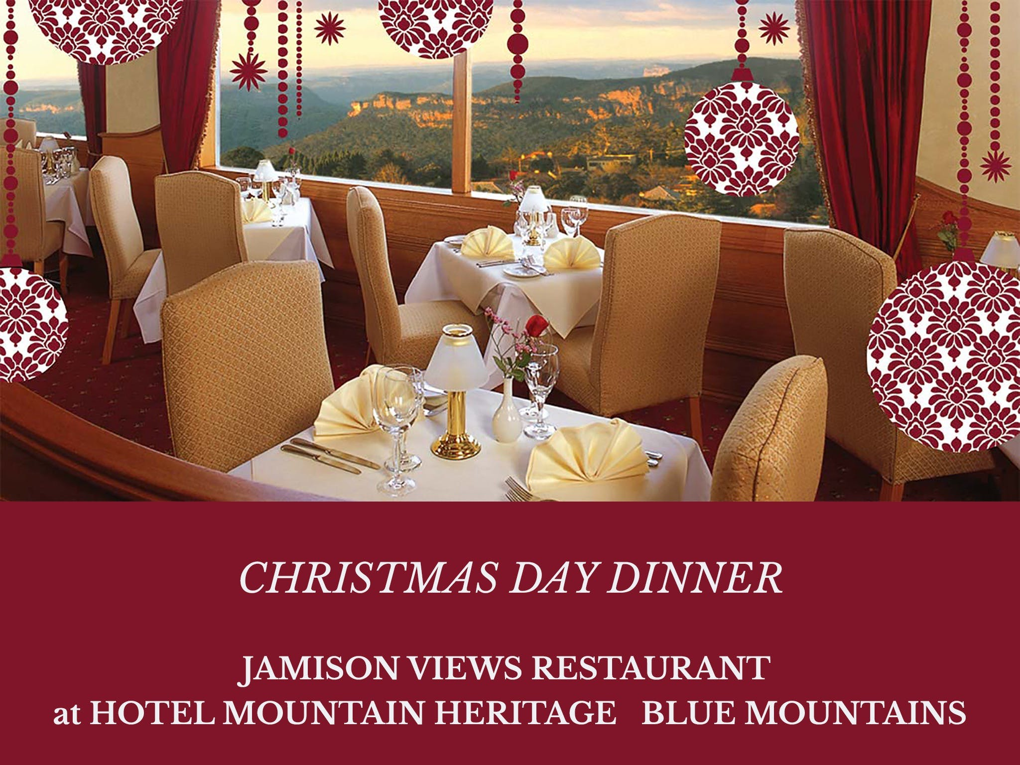 Christmas Day Dinner Hotel Mountain Heritage - Hotel Accommodation